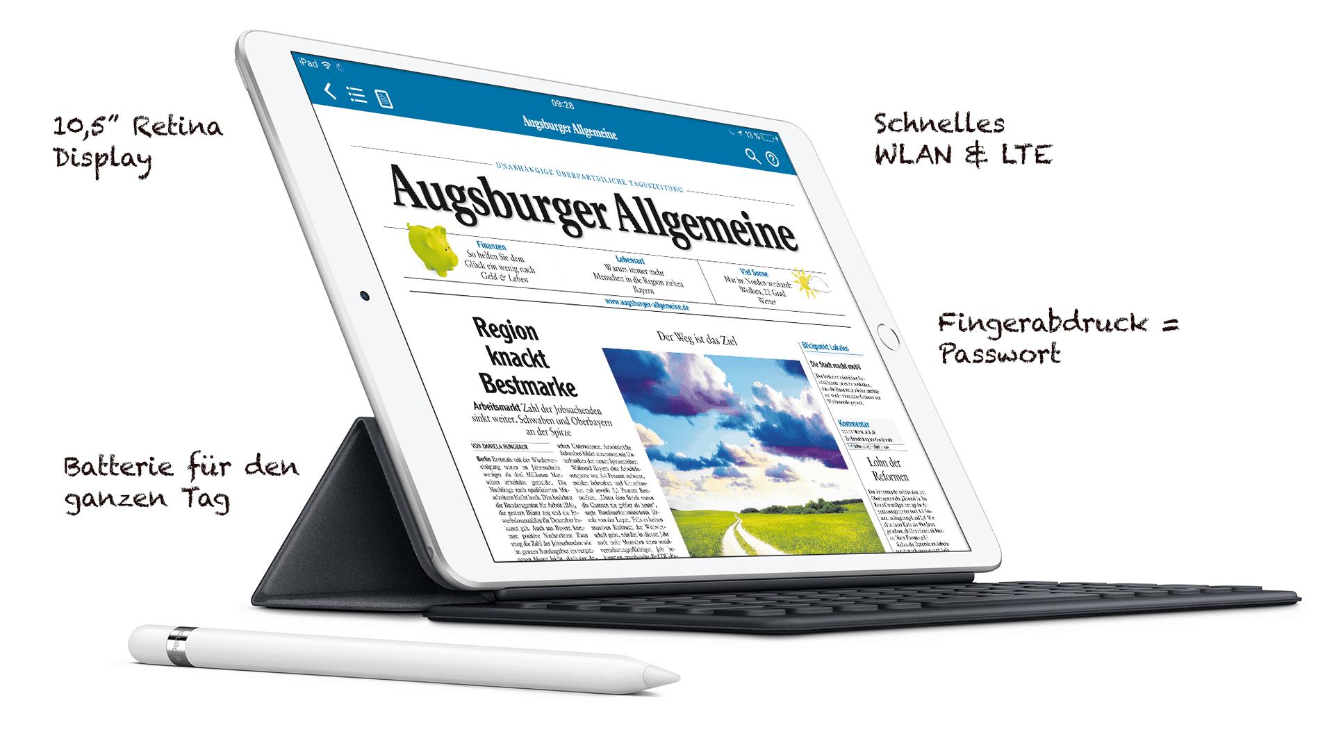 Das iPad Air - mobile Power für alles was Sie machen möchten.